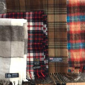 Bundle men's scarves wool Johnston's & cashmere